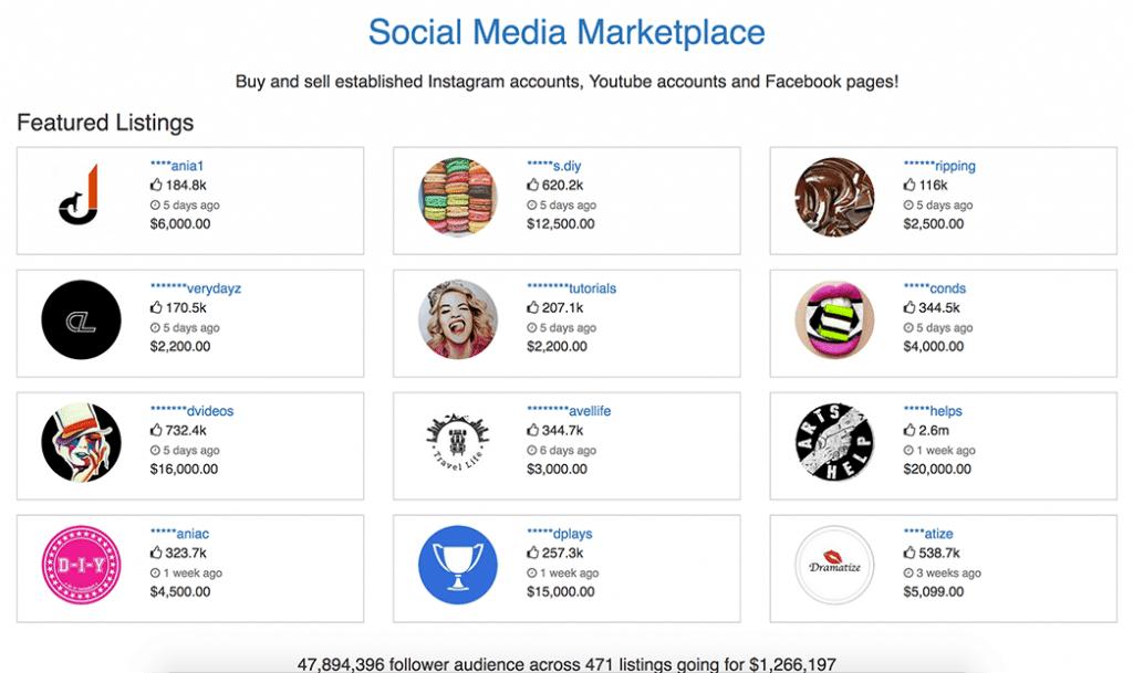 FameSwap is een internationale marktplaats voor Instagram accounts.