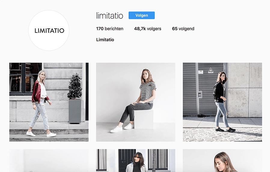 Voorbeeld van een Instagram merk account welke enkel eigen producten promoten.