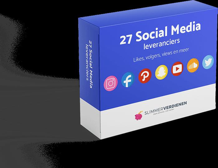 27 social media leveranciers: hiermee kun jij direct op meerdere manieren geld verdienen via internet.