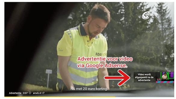 YouTube advertenties: Het standaardverdienmodel van Youtube.