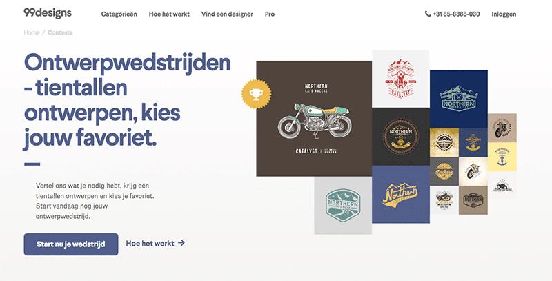 99designs is een populair platform voor allerlei soort design en ontwerp wedstrijden