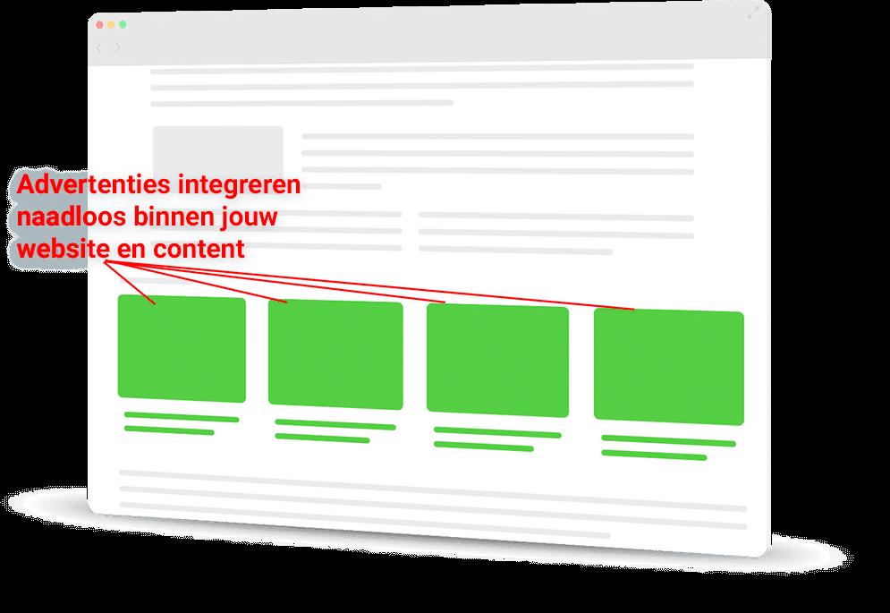 De native ads van RevContent integreren naadloos binnen jouw website en artikelen. Dit is een perfect alternatief voor Google Adsense!