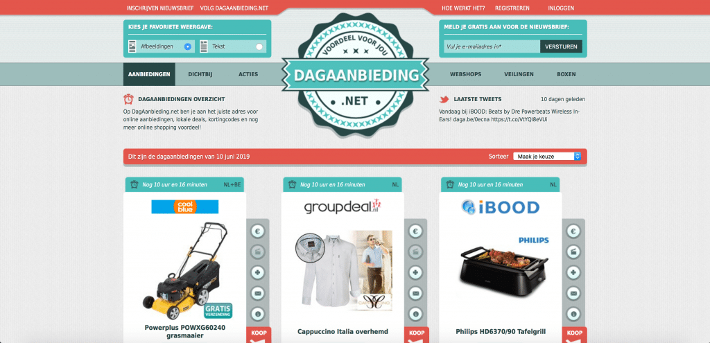 Dagaanbieding is een van Nederlands oudste affiliatesites