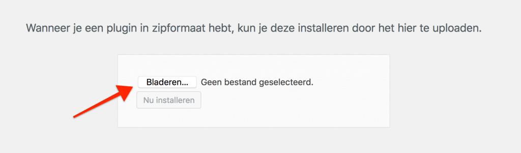 Kies de plugin die je wilt installeren via bladeren