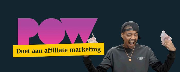 Ook Powned gebruikt affiliate marketing voor het werven van nieuwe leden