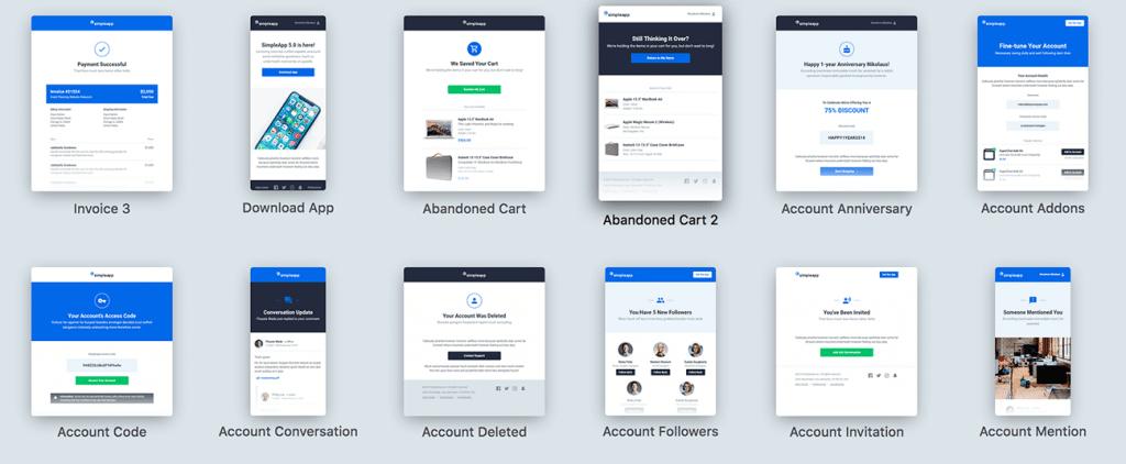Email marketing templates voorbeeld