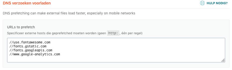 Met DNS prefetching kun je de browser externe resources laten voorladen